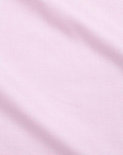 Chemise rose en tissage échelle slim fit sans repassage