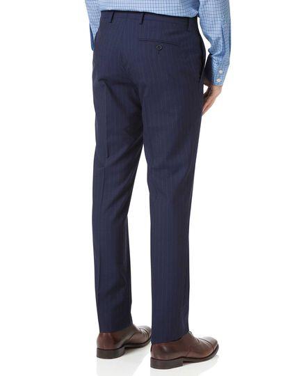 Navy slim fit Panama stripe business suit pants