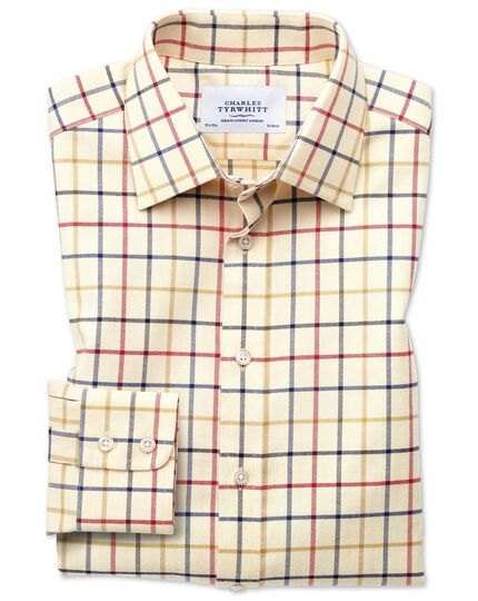 Slim fit country check red and blue shirt