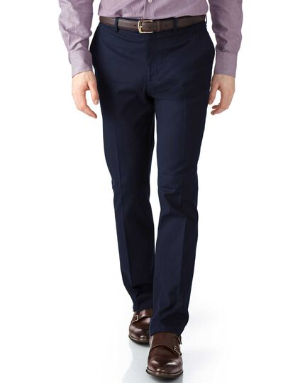 Navy extra slim fit stretch cavalry twill pants