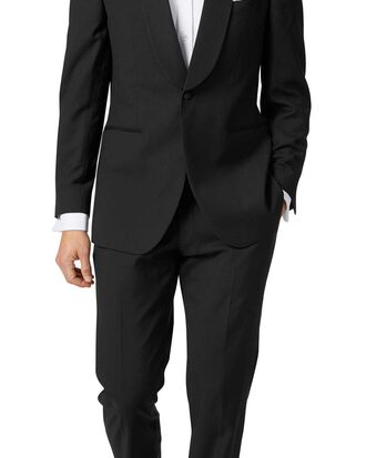 Black slim fit shawl collar tuxedo suit