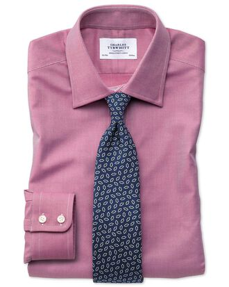 Extra slim fit Egyptian cotton royal Oxford magenta shirt