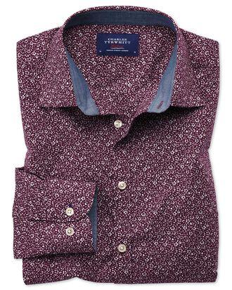 Chemise violette à fleurs extra slim fit