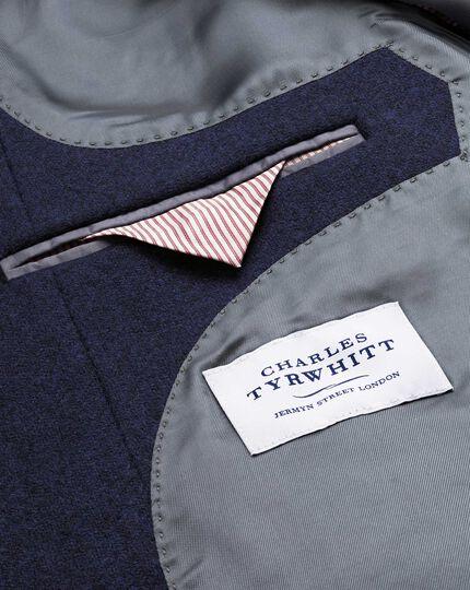 Navy check wool Epsom overcoat