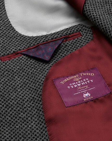 Slim fit grey luxury border tweed jacket