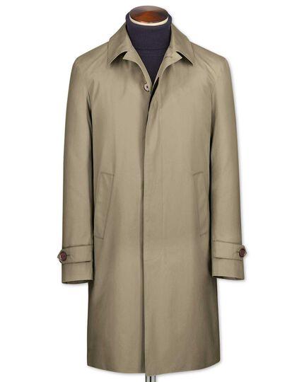 Classic fit stone raincoat