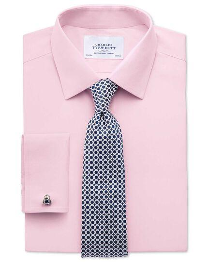Bügelfreies Slim Fit Hemd aus Popeline in Hellrosa