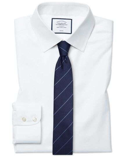 Chemise blanche en twill extra slim fit sans repassage