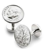 Dime coin cufflinks