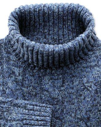 Mouline Pullover mit Rollkragen in Blau