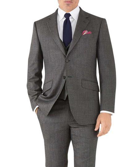 Silver slim fit flannel business suit jacket