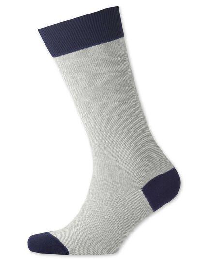 Grey birdseye socks