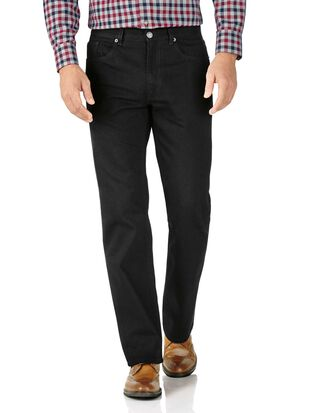 Classic Fit 5-Pocket Jeans in Schwarz