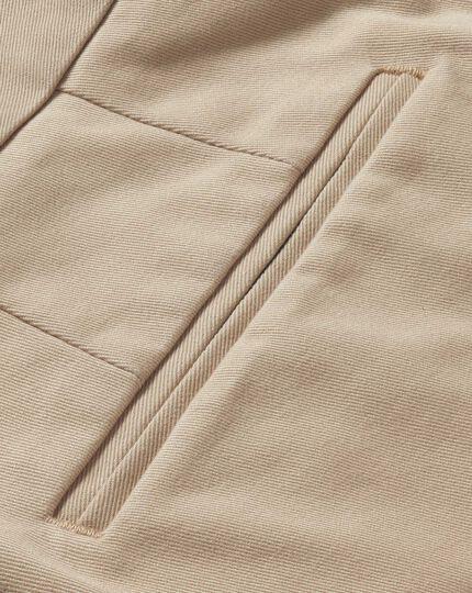 Stone classic fit single pleat non-iron chinos