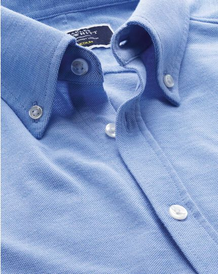 Chemise Oxford bleu ciel en jersey