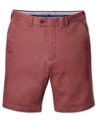 Short chino rouge clair slim fit