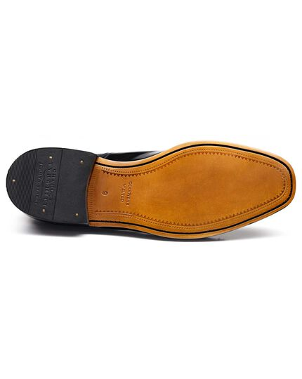 Black Goodyear welted Oxford shoe