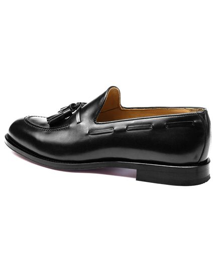 Black Keybridge tassel loafers