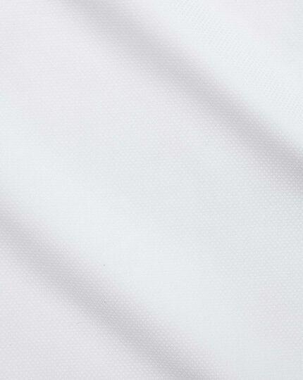 Slim fit Egyptian cotton trellis weave white shirt