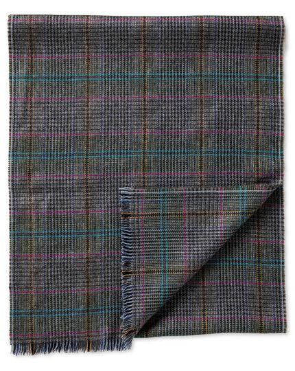 Multi Prince of Wales merino scarf