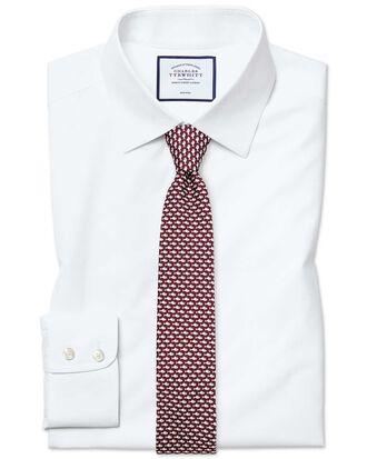 Extra slim fit non-iron poplin white shirt