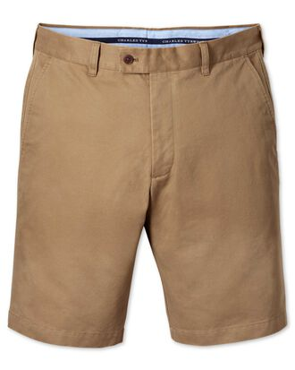 Short chino brun clair slim fit