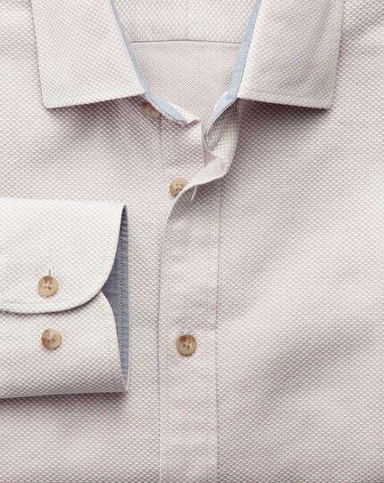 Slim Fit Hemd in stonewashed mit Struktur