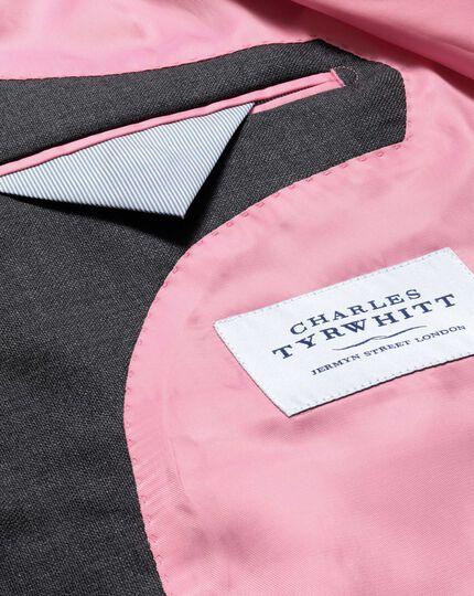 Dark grey slim fit basketweave business suit jacket