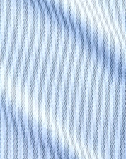 Extra slim fit semi-spread collar non-iron luxury hairline stripe sky blue shirt