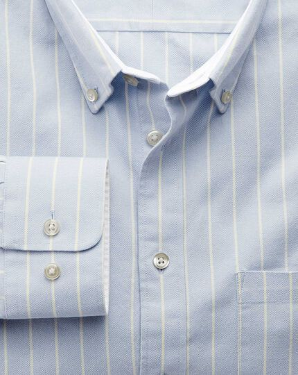Slim Fit Oxfordhemd in Himmelblau mit Streifen