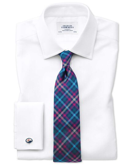Slim fit Egyptian cotton royal Oxford white shirt