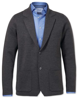 Merino Blazer in Anthrazit