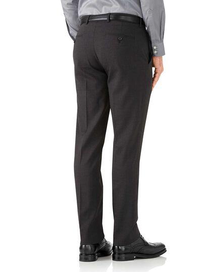 Charcoal slim fit performance suit pants