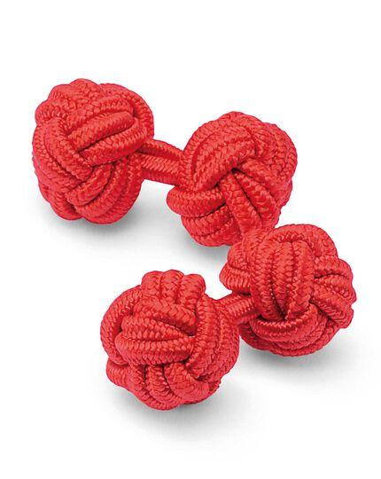 Seidenknoten-Manschettenknöpfe in Rot
