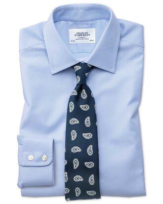Chemise bleu ciel en oxford royal de coton égyptien extra slim fit