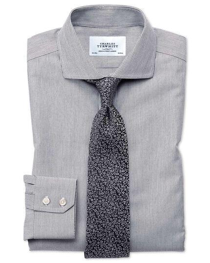 Chemise charcoal extra slim fit sans repassage à col cutaway et fines rayures