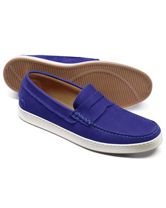 Blue saddle loafer