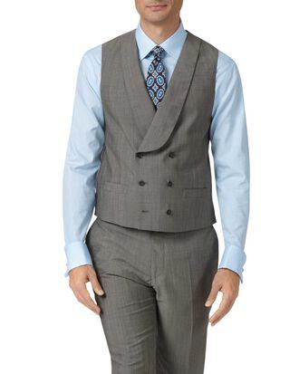Gilet de costume gris en luxueux tissu italien coupe ajustable