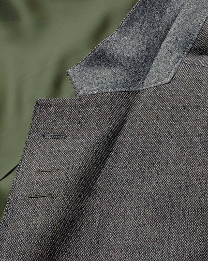 Veste de costume business argent slim fit en flanelle