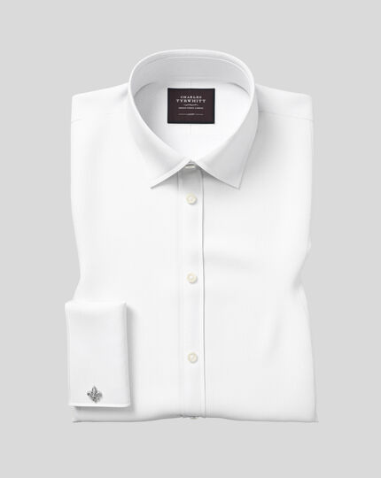 Extra slim fit luxury marcella white evening shirt
