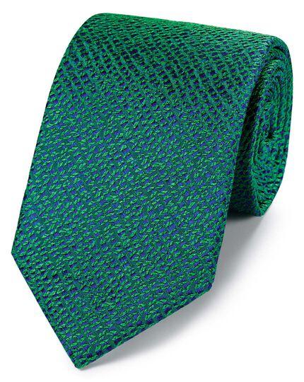 Englische Luxuskrawatte aus Seide in Strukturgewebe in Grün
