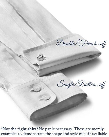 Extra slim fit cutaway collar non-iron grey shirt