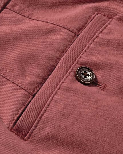 Light red classic fit flat front weekend chinos