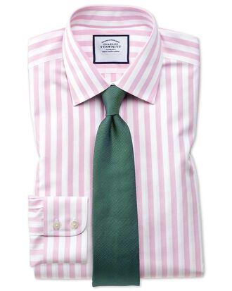 Bügelfreies Extra Slim Fit Hemd mit Jermyn-Street-Streifen in Rosa