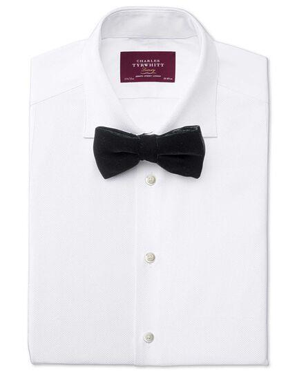 Black cotton velvet luxury ready-tied bow tie