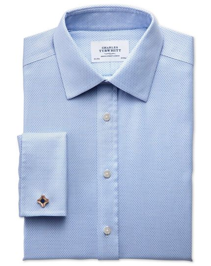 Extra slim fit non-iron imperial weave sky blue shirt