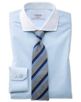 Chemise bleu ciel Winchester sans repassage extra slim fit avec col cutaway