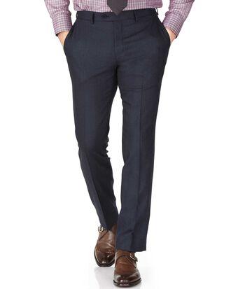Indigo slim fit saxony business suit trousers