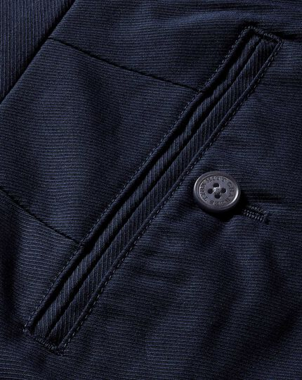 Navy slim fit stretch cavalry twill trousers