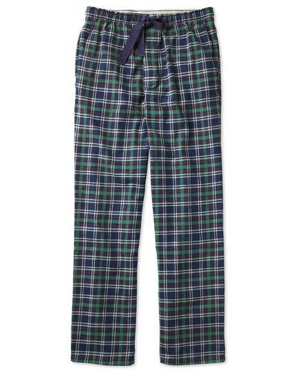 Navy check cotton pyjama trousers